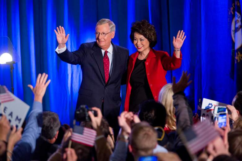 Mitch McCaonnell wife, Elaine Chao husband, Mitch McConnell Elaine Chao