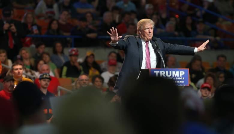 Donald Trump, ape in heels, West Virginia