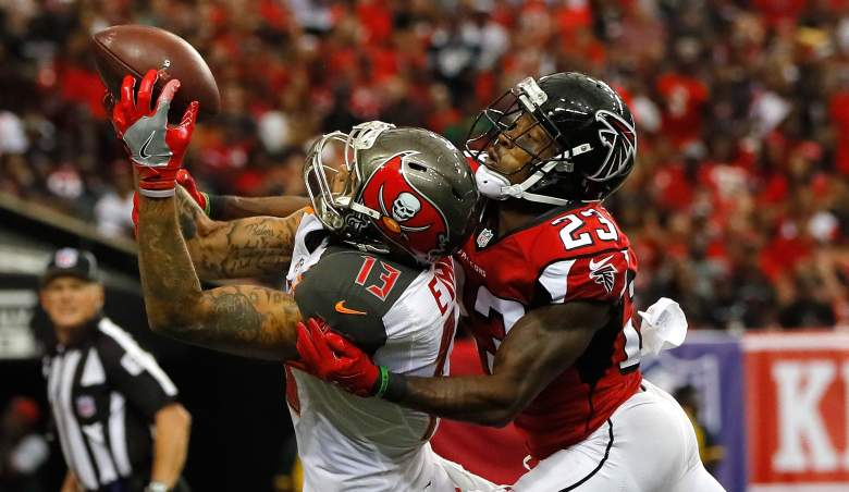 buccaneers bucs falcons betting odds line point spread over under total game pick prediction