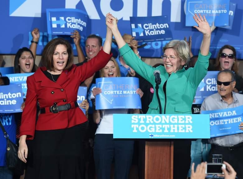 Catherine Cortez Masto and Elizabeth Warren, women in the Senate, Nevada Senate race