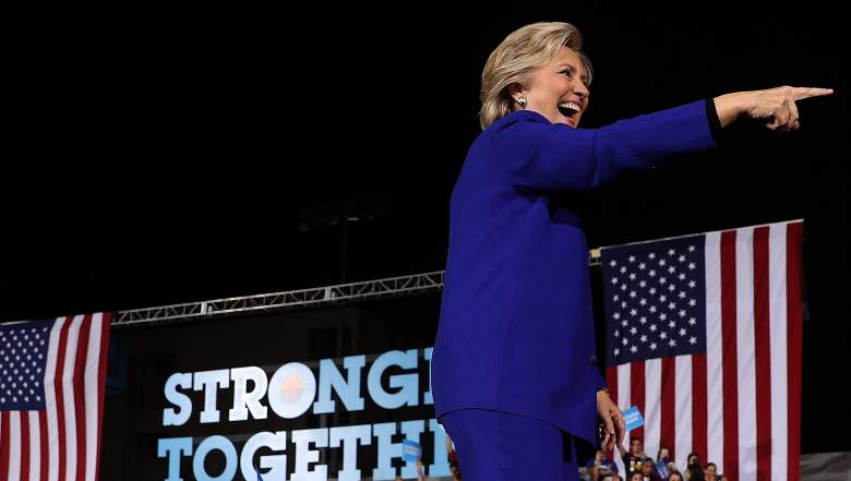 TEMPE, AZ - NOVEMBER 02: Democratic presidential nominee Hillary Clinton greets supporters during a campaign rally at Arizona State University on November 2, 2016 in Tempe, Arizona. The U.S. presidential general election is November 8. (Photo by Justin Sullivan/Getty Images)