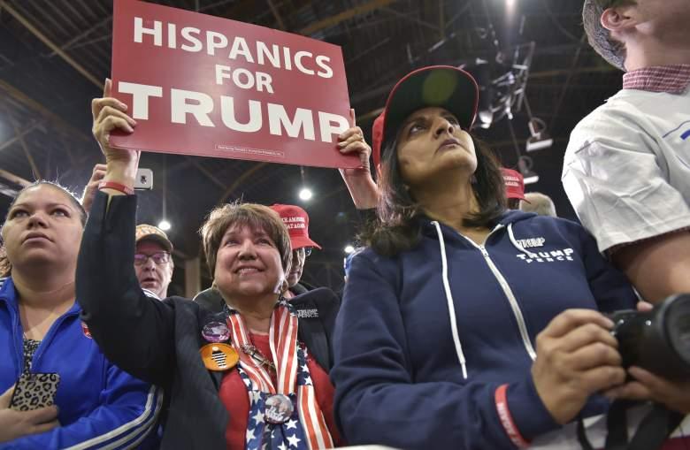 Hispanics for Trump, Donald Trump Colorado rally, hispanics for trump sign