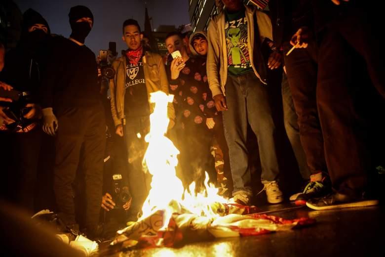 flag burning, first amendment, Donald Trump Flag burning, Donald Trump protests