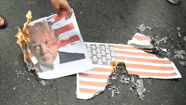 Donald Trump flag burning, Donald Trump treason, flag burning treason