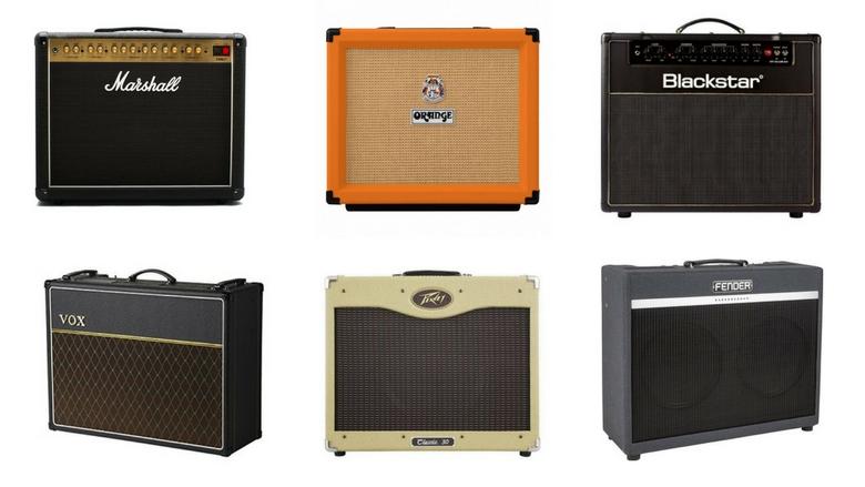 image featuring marshall dsl40, orange rocker 15, blackstar ht40, vox ac15, peavey classic 30, and fender bassbreaker combo amps, gigging amps, best gigging amp, combo amp