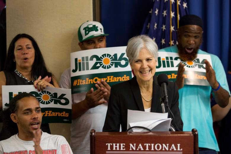WASHINGTON, DC - JUNE 23: Jill Stein announces that she will seek the Green Party's presidential nomination, at the National Press Club, June 23, 2015 in Washington, DC. Stein also ran for president in 2012 on the Green Party ticket. (Drew Angerer/Getty Images)