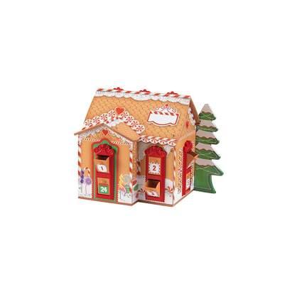 wooden santa house advent calendar