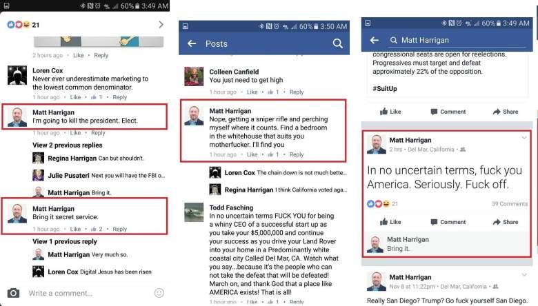 Matt Harrigan donald trump, Matt Harrigan comments, Matt Harrigan trump threat