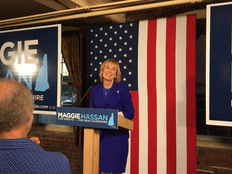 maggie hassan and tim kaine, maggie hassan campaign, maggie hassan and hillary clinton