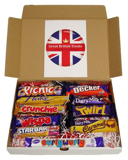 british candy bars, chocolate gifts, christmas gifts