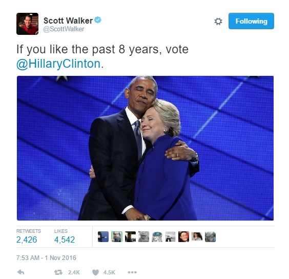scott walker, scott walker tweet