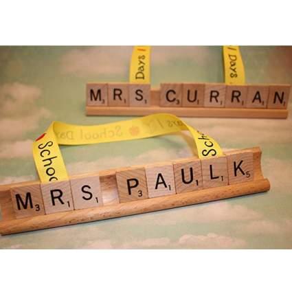 Custom Teacher Scrabble Ornament