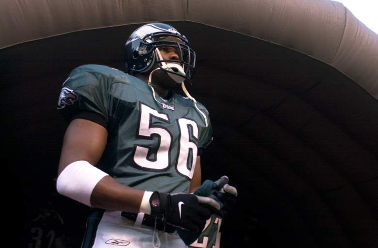 Caldwell in the tunnel prior to a game as a member of the Eagles (Getty)