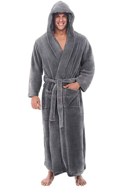 Alexander Del Rossa Men's Fleece Robe
