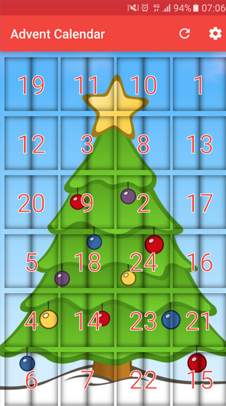advent calendar website, online advent calendar, advent calendar app, advent calendar iphone app, advent calendar android app