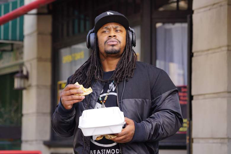 Brooklyn Nine Nine The Fugitive, Marshawn Lynch today, Marshawn Lynch Brooklyn Nine Nine
