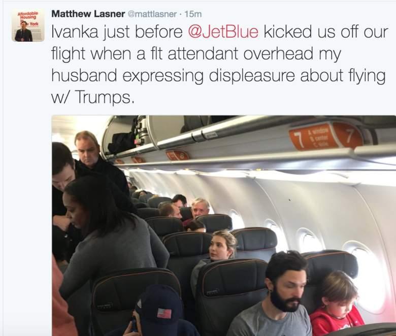 Ivanka Trump, Dan Goldstein, Ivanka Trump JetBlue flight