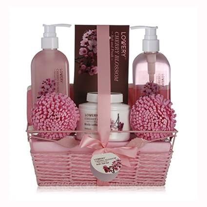 cherry blossom bath gift set