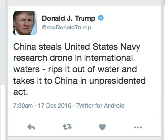 Donald Trump unpresidented, Donald Trump China