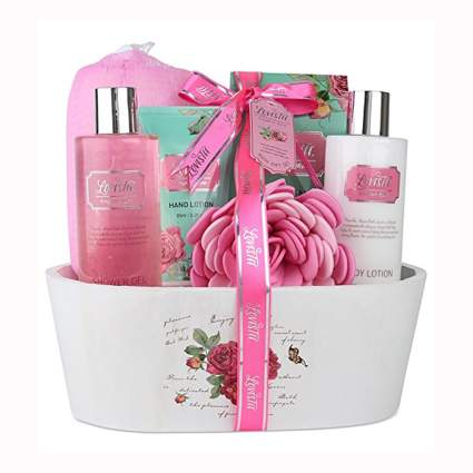 english rose scented bath gift set