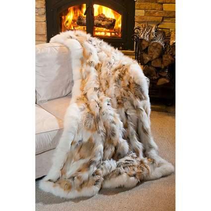 Overland Sheepskin Co fox blanket