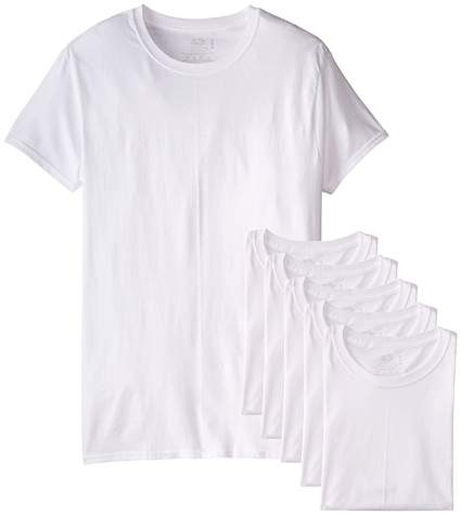 Fruit of the Loom Men's 6-Pack Stay Tucked Crew T-Shirt