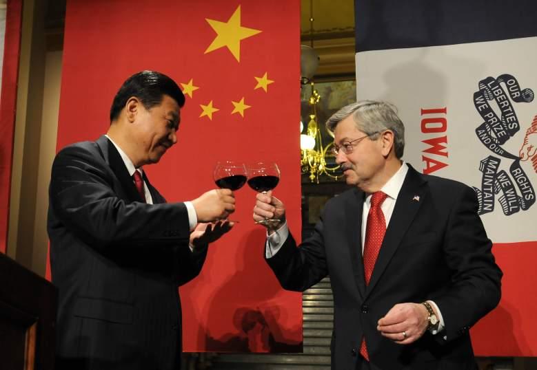 Xi Jinping Terry Branstad, Xi Jinping Terry Branstad toast, Terry Branstad china