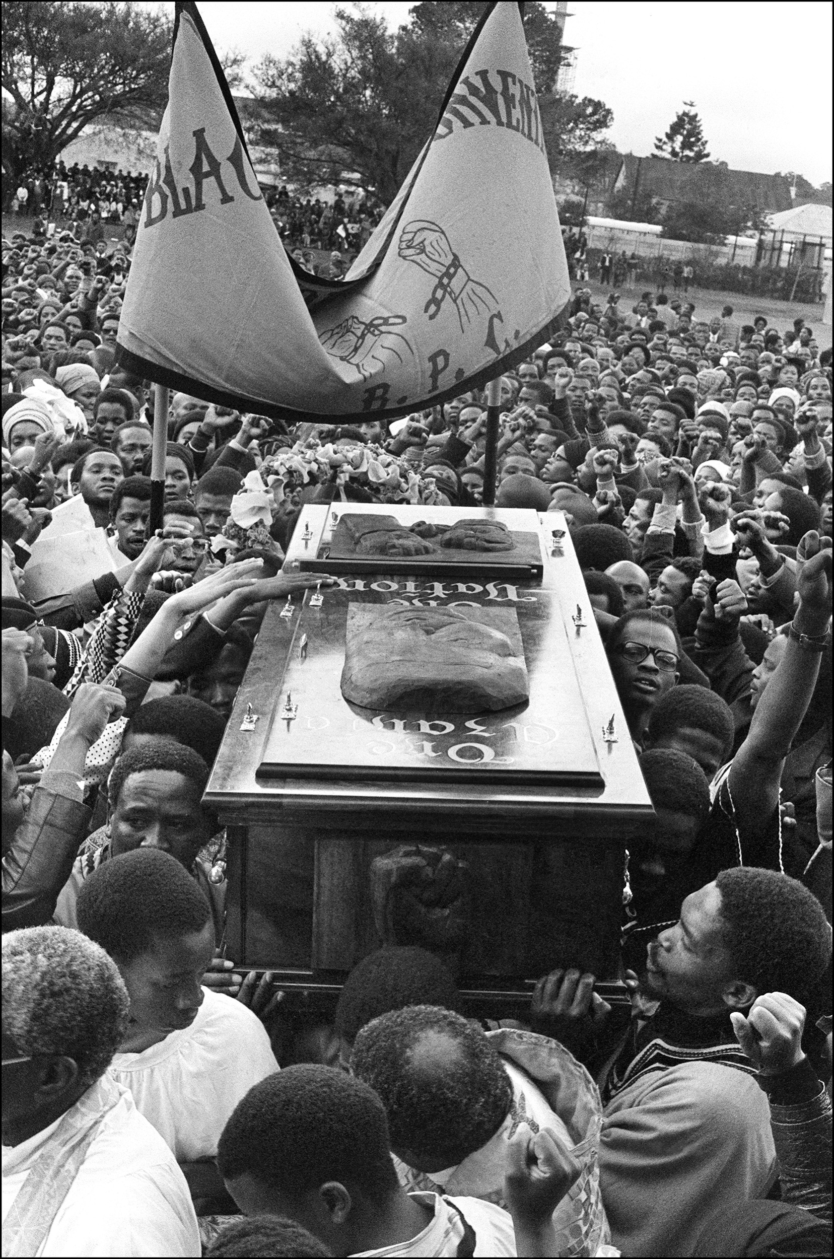 Steve Biko's burial. (Getty)