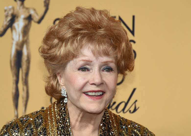 LOS ANGELES, CA - JANUARY 25:  Actress Debbie Reynolds, recipient of the Screen Actors Guild Life Achievement Award, poses in the press room during the 21st Annual Screen Actors Guild Awards at The Shrine Auditorium on January 25, 2015 in Los Angeles, California.  (Photo by Ethan Miller/Getty Images)