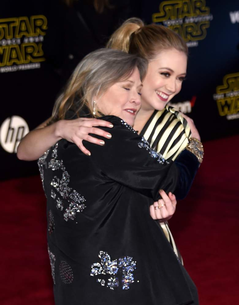 carrie fisher, carrie fisher daughter, billie lourd