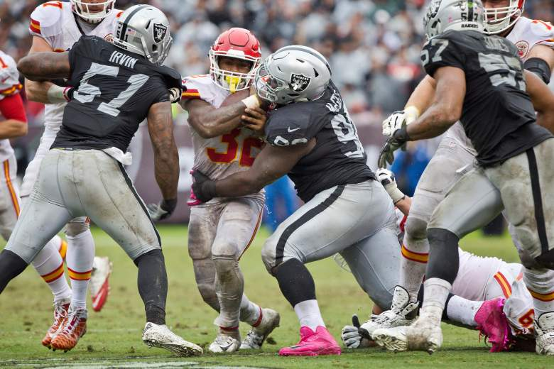 chiefs vs. raiders, who plays thursday night football, when, what time, tv channel, kickoff