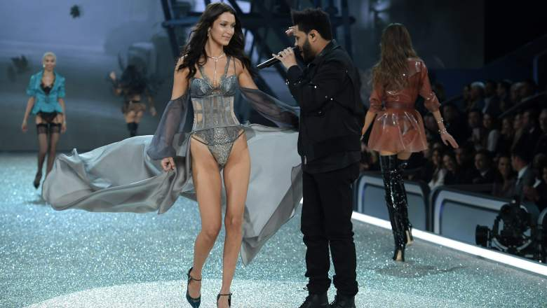 Bella Hadid and The Weeknd Split, Bella Hadid and The Weeknd Victoria's Secret Fashion Show, Bella Hadid and The Weeknd Touch Hands at Victoria's Secret Fashion Show
