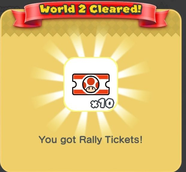 Super Mario Run, Super Mario Run tickets, Super Mario Run toad rally tickets