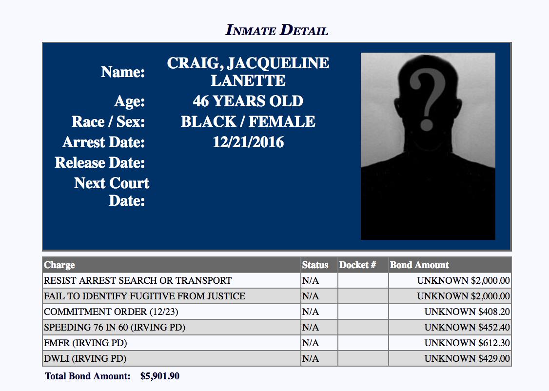 jacqueline craig charges