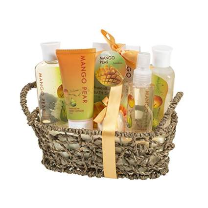 mango pear bath gift set