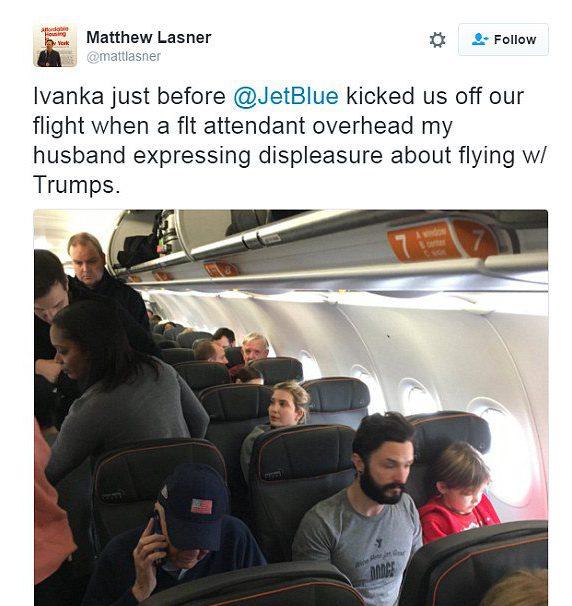 Maatthew Lasner, Ivanka Trump JetBlue, Ivanka Trump plane