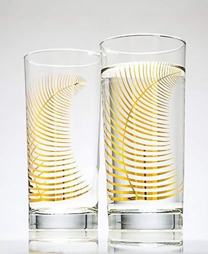 metallic-gold-fern-glasses