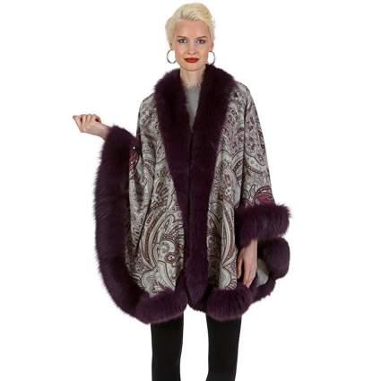 Madison Avenue Mall fur cape