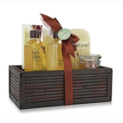 green tea and argan oil bath gift set