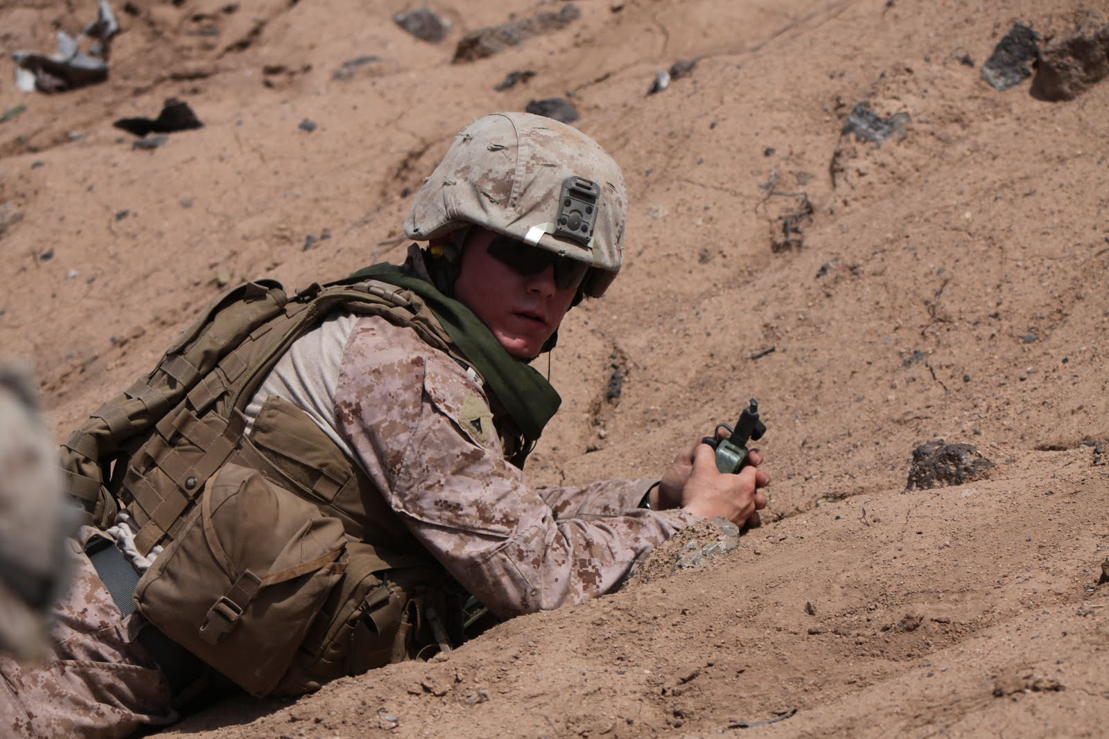 Reagan Selman in Djibouti in 2011. (U.S. Marine Corps photo by SSgt Donald Bohanner)