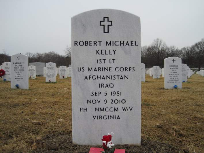 Robert Michael Kelly arlington, Robert Michael Kelly gravestone, Robert Michael Kelly Arlington cemetery