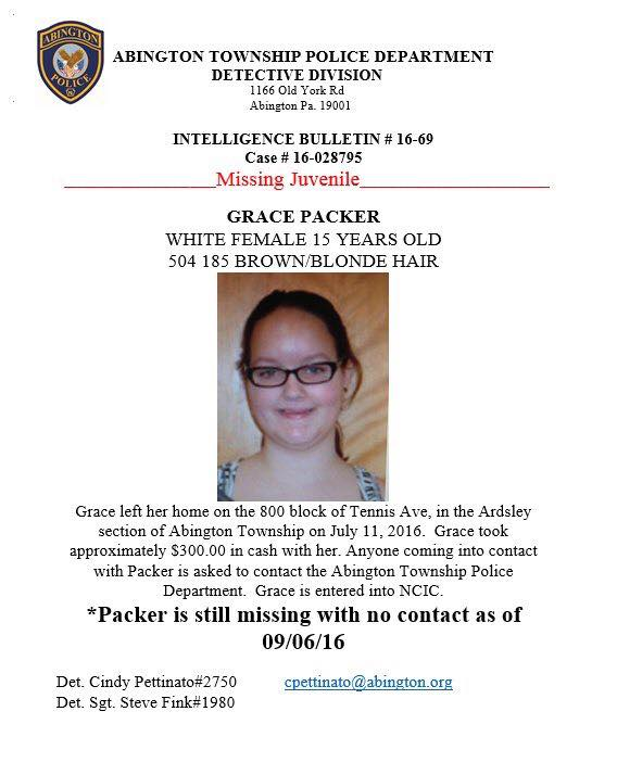 A missing poster put out by Abington Township Police. (Facebook)