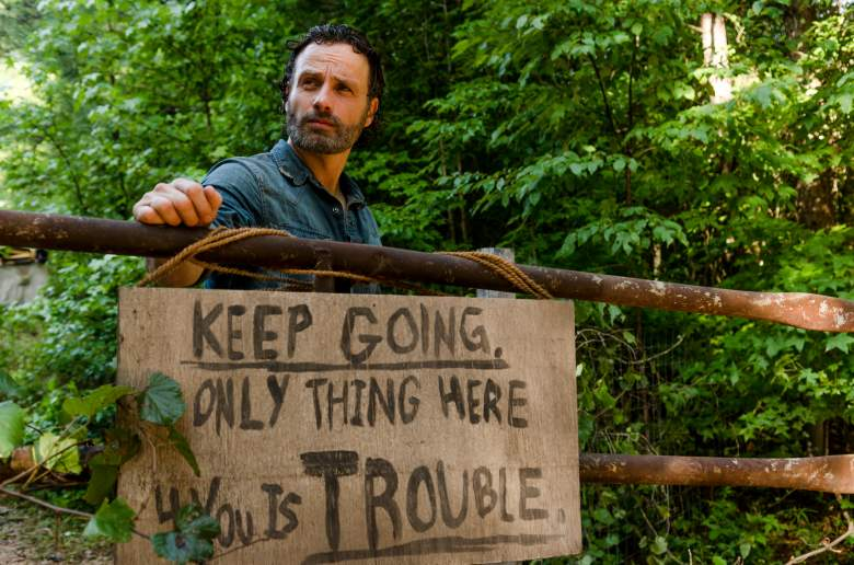 Andrew Lincoln as Rick Grimes- The Walking Dead _ Season 7, Episode 7 - Photo Credit: Gene Page/AMC