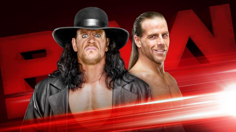 Monday Night Raw undertaker, Monday Night Raw shawn micheals, Monday Night Raw undertaker return