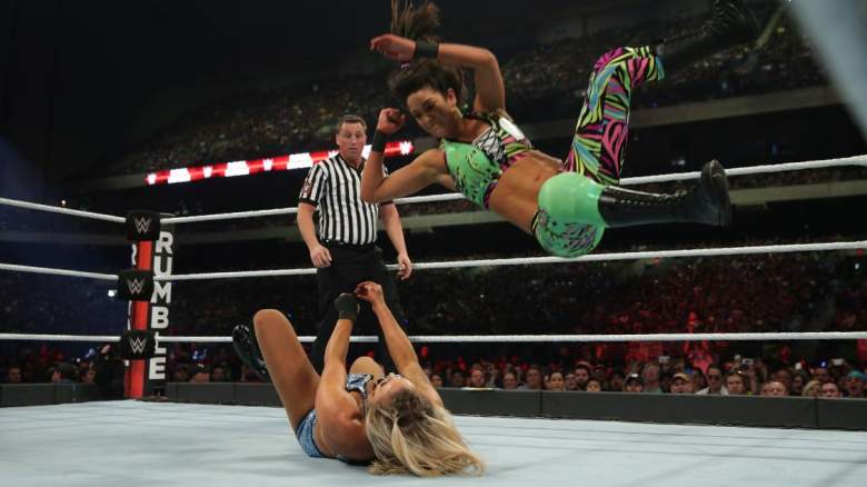 Bayley fights Charlotte at Royal Rumble 2017. (WWE.com)