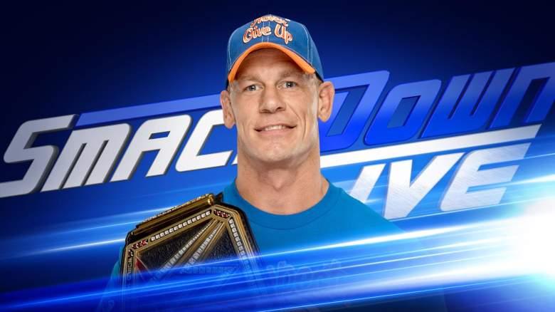 John Cena SmackDown Live, John Cena world championship, John Cena smackdown championship