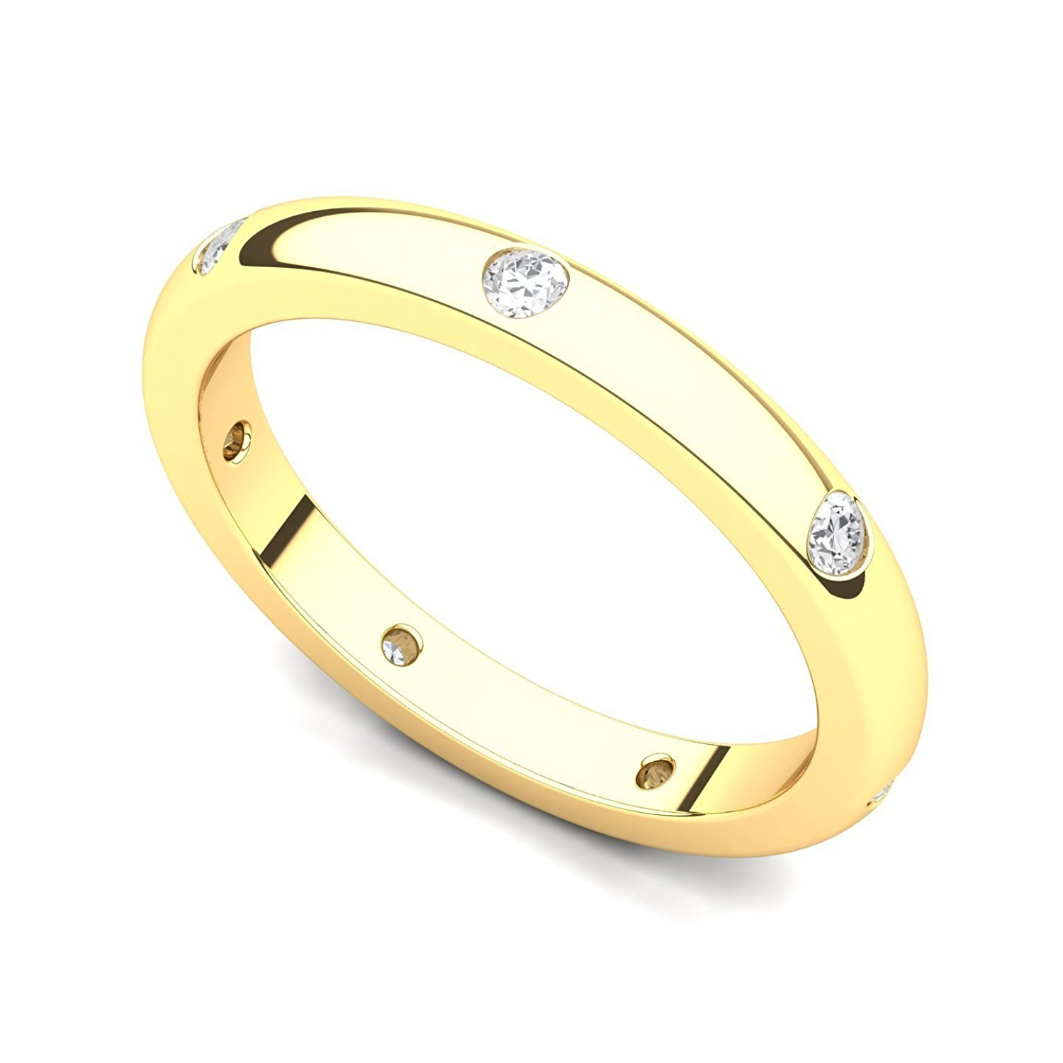 Dainty 10k Yellow Gold Comfort-Fit Band Traditional 2mm Wedding Ring for Women