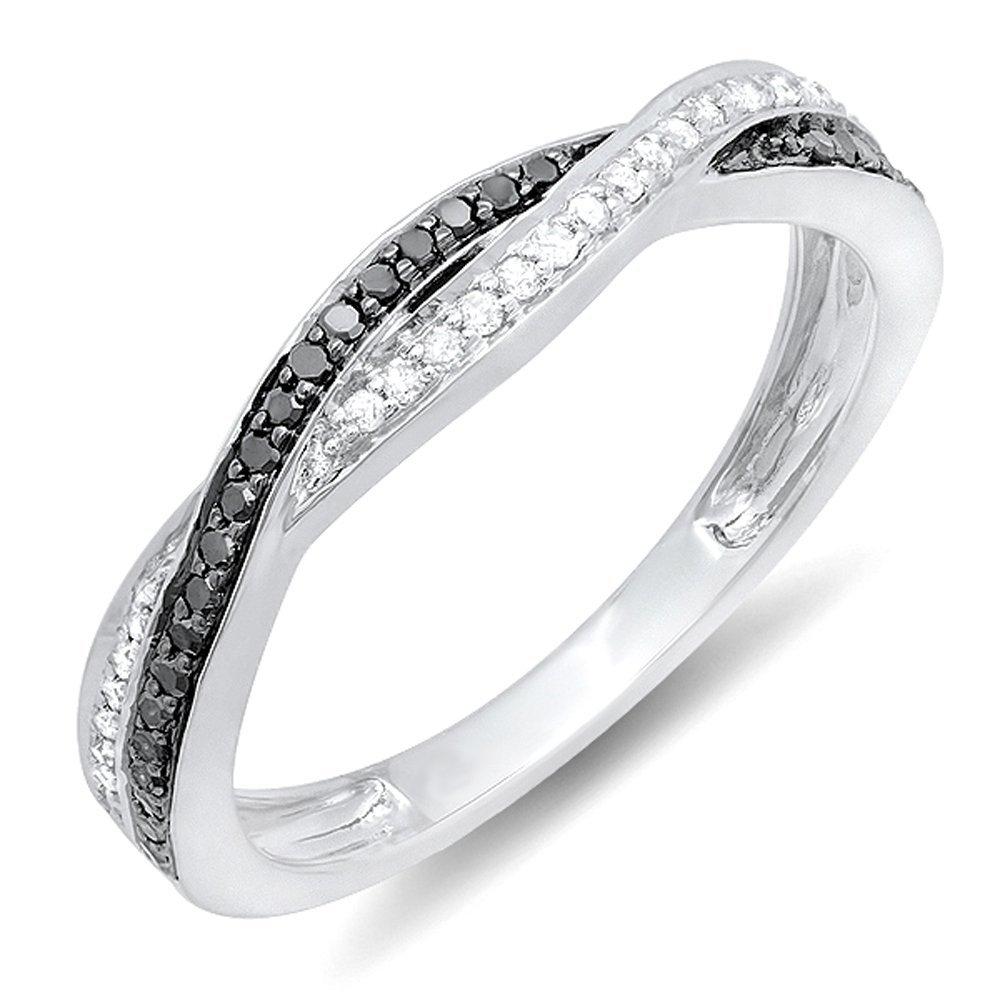 black and white diamond wedding band