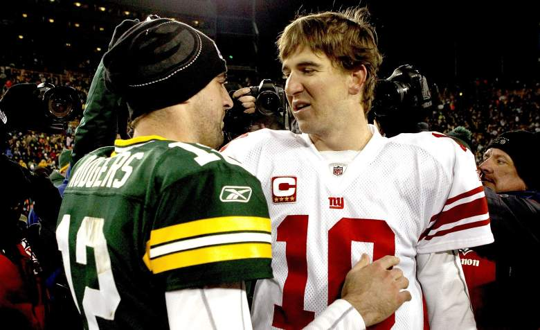 aaron rodgers vs eli manning who has more career wins victories