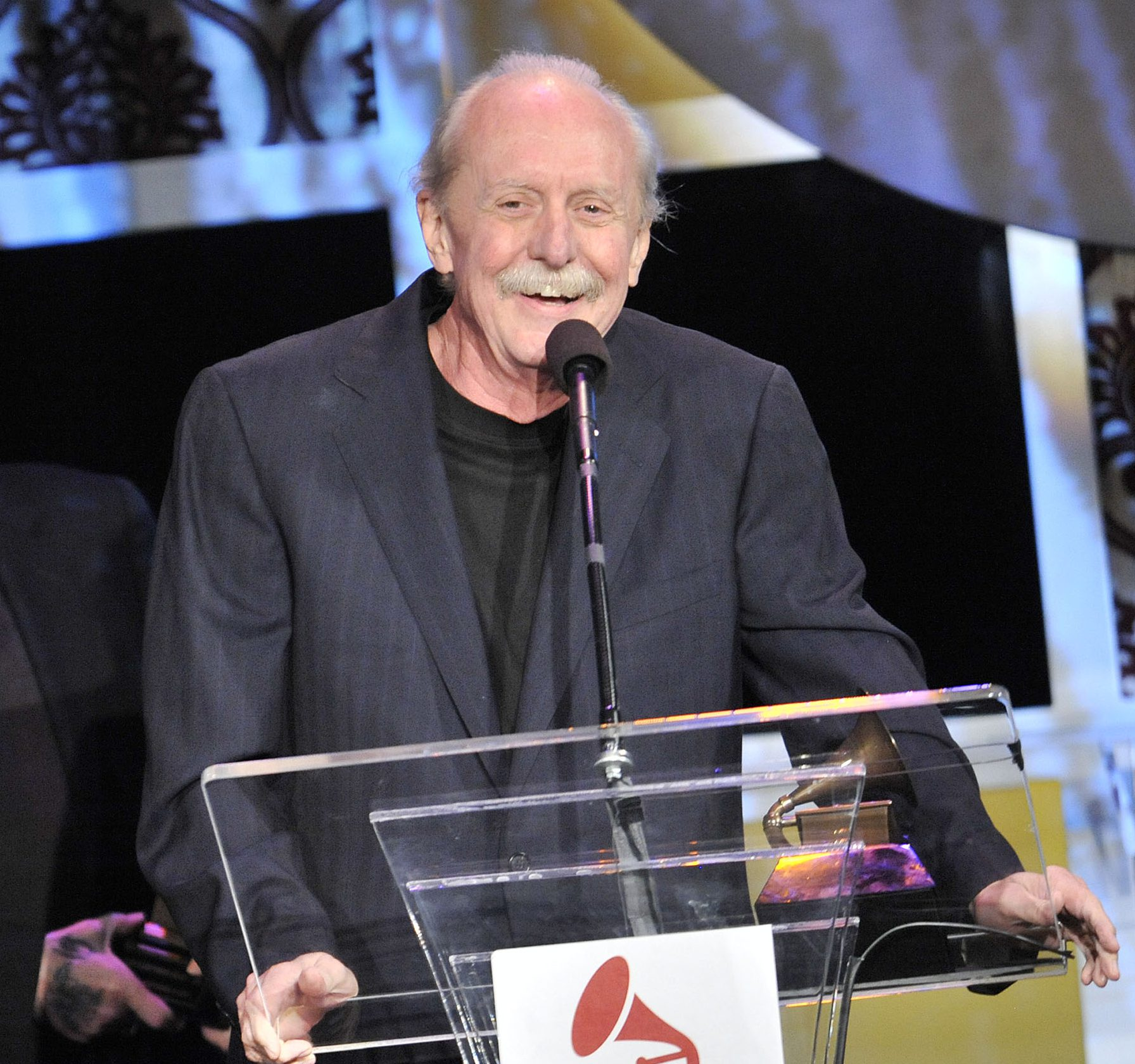 Butch Trucks in 2012 while accepting an award at the Grammys. (Getty)